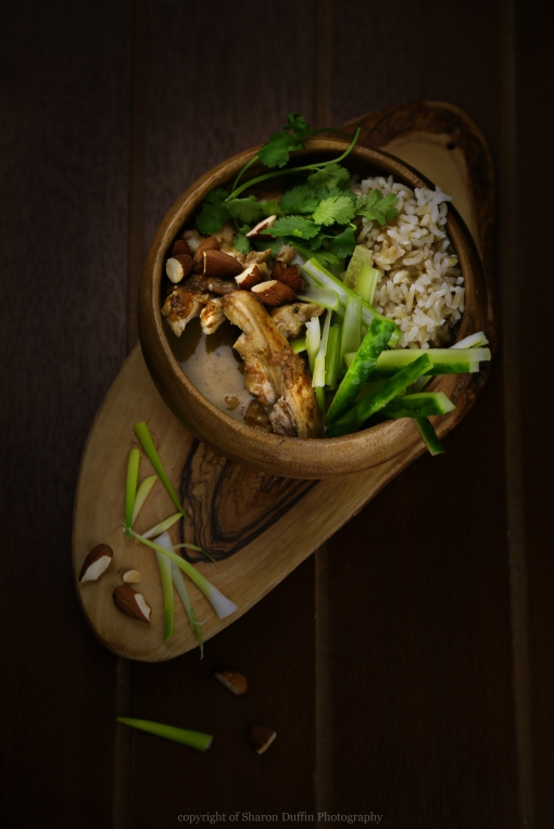Thai almond chicken curry