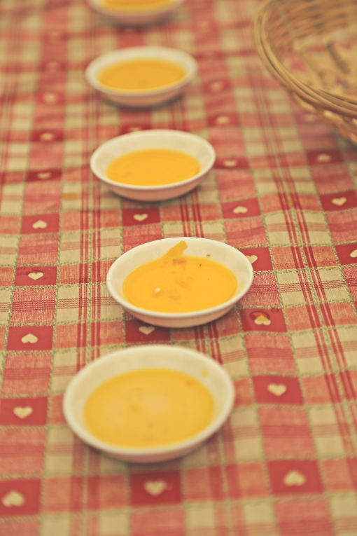 Harnetts Oils dipping saucers