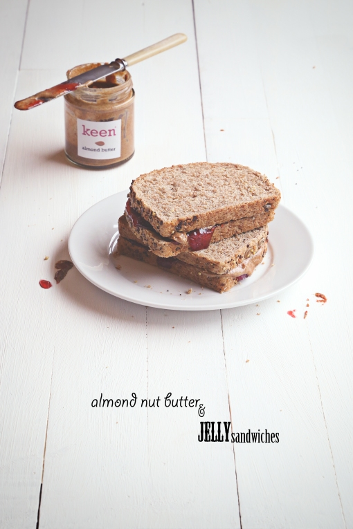 Nut butter and jam sandwiches
