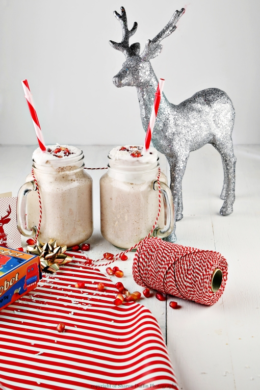 Eggnog Smoothie with coconut whipped cream