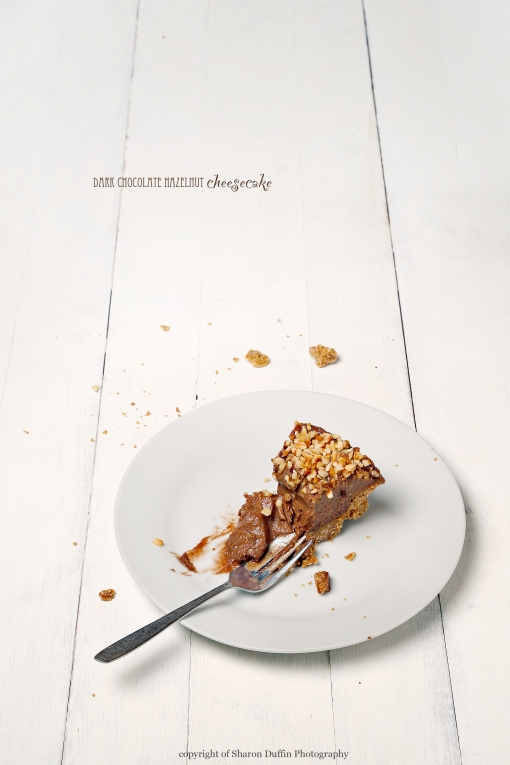 Nutty choc cheesecake slice